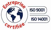Entreprise certifiée iso 9001 iso 14001